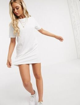 Lennon t shirt dress-White